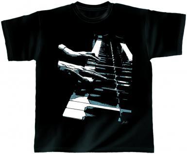 Designer T-Shirt - Piano Hands - 10392 - von ROCK YOU MUSIC SHIRTS - Gr. XL