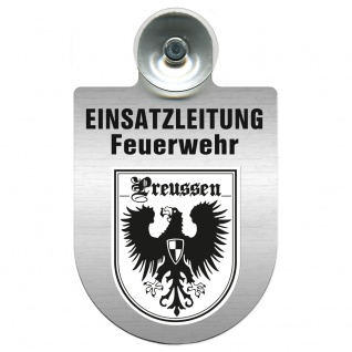 Einsatzschild Windschutzscheibe incl. Saugnapf - Einsatzleitung Feuerwehr - 309476 Region Preussen