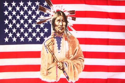 Deko-Fahne - USA Indianer - Gr. ca. 150 x 90cm - 24331