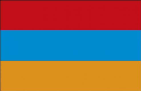 Auto-Fahne - Armenien - Gr. ca. 40x30cm - 78015 - Flagge mit Klemm-Fahnenstab, Autoländerfahne