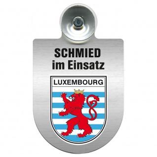 Einsatzschild Windschutzscheibe incl. Saugnapf - Schmied im Einsatz - 309462 - Region Luxembourg