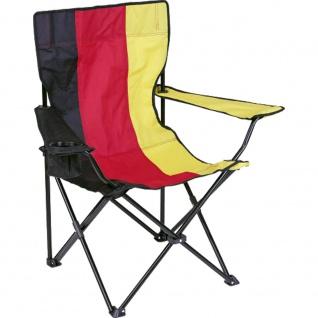 Campingstuhl Deutschland mit Getränkehalterung Faltstuhl Klappstuhl 72103