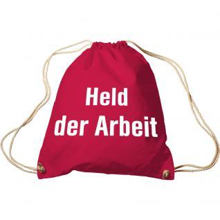 Sporttasche mit Aufdruck - Held der Arbeit - 65079 - Trend-Bag Turnbeutel Rucksack