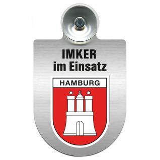 Einsatzschild Windschutzscheibe incl. Saugnapf - Imker im Einsatz - 309382-0-15 - Region Hamburg