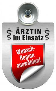 Einsatzschild Windschutzscheibe incl. Saugnapf - Ärztin im Einsatz - 309479- - Regionen nach Wahl