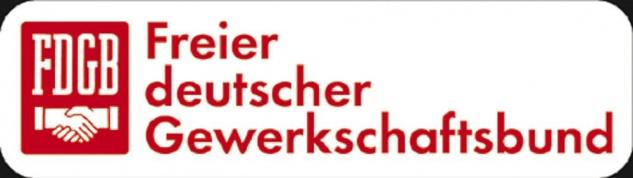 Aufkleber - FDGB Freier Deutscher Gewerkschaftsbund - 303124/1 - Gr. ca. 9 x 7 cm