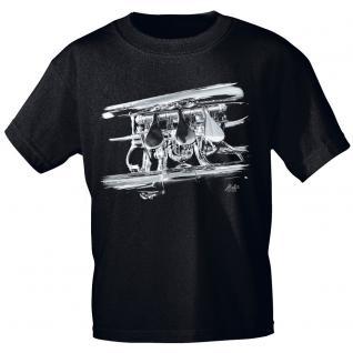 Designer T-Shirt - Flügelhorn Detail - von ROCK YOU MUSIC SHIRTS - 10739 - Gr. S - XXL