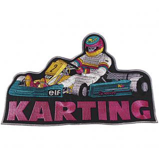 Rückenaufnäher - Karting - 08015 - Gr. ca. 30 x 20 cm - Patches Stick Applikation