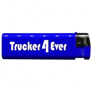 Einwegfeuerzeug mit Motiv - Trucker 4 Ever - 01166 versch. Farben blau