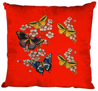 Deko- Kissen mit Print - Schmetterlinge - Gr. ca. 40cm x 40cm incl. Füllung - K06991