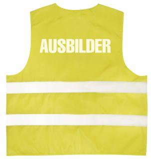 Warnweste mit Aufdruck - AUSBILDER - 10324 gelb L/XL