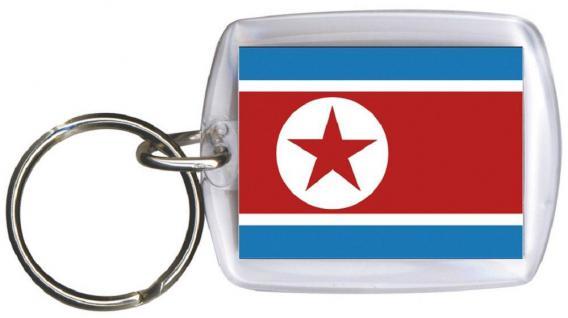 Schlüsselanhänger Anhänger - NORDKOREA - Gr. ca. 4x5cm - 81122 - Keyholder WM Länder