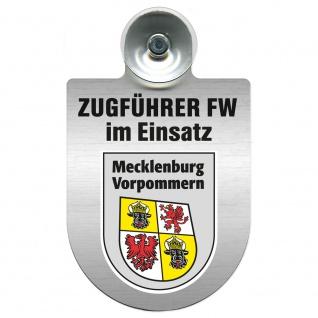 Einsatzschild Windschutzscheibe incl. Saugnapf - Zugführer Feuerwehr im Einsatz - 309749 - Region Mecklenburg-Vorpommern