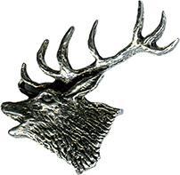Anstecknadel - Metall - Pin - Hirsch Seitenansicht - 02730 - Gr. ca. 3, 5 x 3, 8 cm