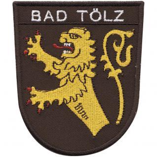 "AUFNÄHER "" BAD TÖLZ"" - NEU Gr. ca. 8-11cm (01776) Stick Patches Applikation - Region Landeswappen Städtewappen"