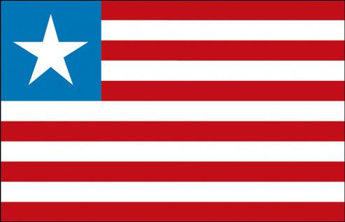 Stockländerfahne - Liberia - Gr. ca. 40x30cm - 77093 - Fahne Flagge Schwenkfahne