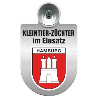 Einsatzschild Windschutzscheibe incl. Saugnapf - Kleintierzüchter im Einsatz - 309360-15 - Hamburg