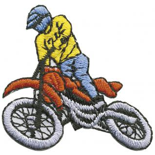 AUFNÄHER - Biker - 02072 - Gr. ca. 5 x 4, 5 cm - Patches Stick Applikation