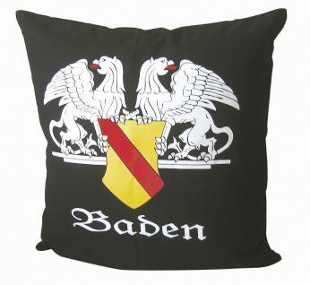 Dekokissen Kissen - BADEN - 09151 - Gr. ca. 40 x 40 cm mit Füllung edler Druck - Dekokissen Autokissen