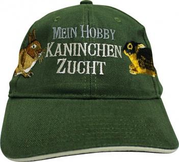 Baseballcap mit Einstickung - Mein Hobby Kaninchenzucht - KN279 dunkelgrün