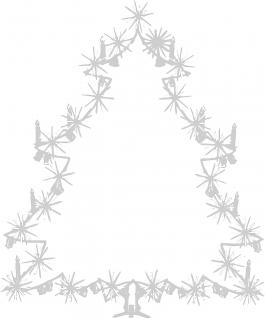 Wandtattoo Dekorfolie Weihnachtsbild Weihnachtsbaum Tannenbaum WD0810 - silber / 120cm