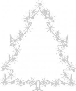 Wandtattoo Dekorfolie Weihnachtsbild Weihnachtsbaum Tannenbaum WD0810 - silber / 90cm