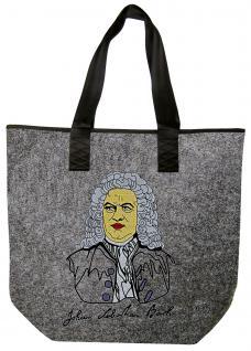 Filztasche Shopper mit Einstickung - JOHANN SEBASTIAN BACH - 26148 - Tasche Shopper Bag Umhängetasche