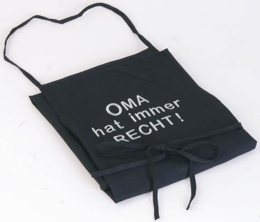 Grillschürze mit Einstickung Oma hat immer Recht 12534 schwarz