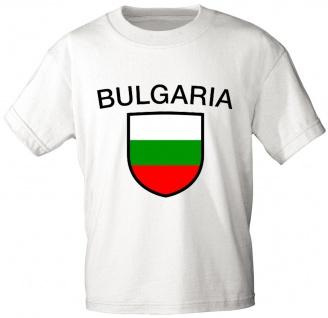 Kinder T-Shirt mit Print - Bulgarien - 76032 - weiß - Gr. 86-164