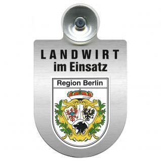 Einsatzschild Windschutzscheibe incl. Saugnapf - Landwirt im Einsatz - 309369-14 - Region Berlin