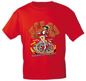 T-SHIRT unisex mit Aufdruck - Alaaf Karneval Fasching - 09511 rot - Gr. S-2XL