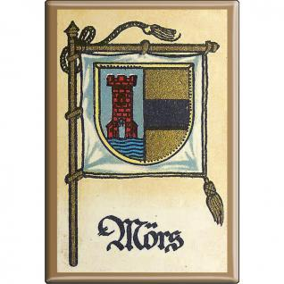 Küchenmagnet - Wappen Mörs - Gr. ca. 8 x 5, 5 cm - 37538 - Magnet Kühlschrankmagnet