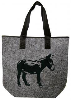 Filztasche mit schönem Stickmotiv - ESEL - 26105 - Tasche Shopper Bag