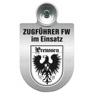 Einsatzschild Windschutzscheibe incl. Saugnapf - Zugführer Feuerwehr im Einsatz - 309749 - Region Preussen
