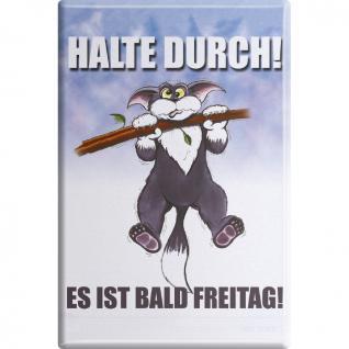 Kühlschrankmagnet - Katze Kätzchen - Halte durch - Gr. ca. 8 x 5, 5 cm - 38854 - Magnet Küchenmagnet