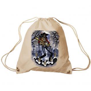 Trend-Bag Turnbeutel Sporttasche Rucksack mit Print- Ghost Guitar - TB65302 natur