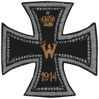 Aufnäher Applikation Spruch - Eisernes Kreuz - 04747 - Gr. ca. 7, 5cm x 7, 5cm