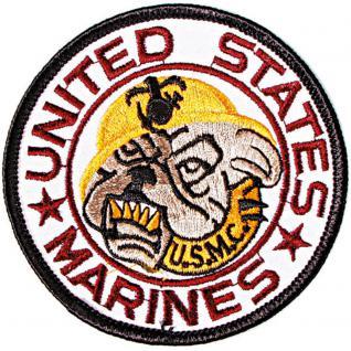 "AUFNÄHER "" United States Marines"" NEU Gr. ca. 8, 5cm (04585) Stick Patches Applikation - Militär Military Armee Army Heer Bundeswehr Marine"