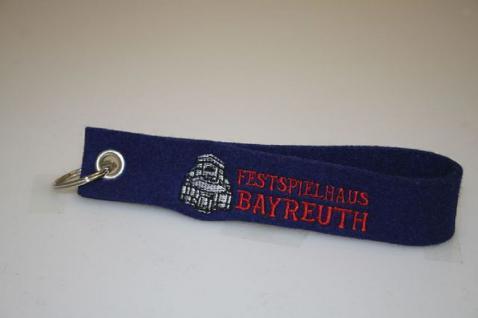 Filz-Schlüsselanhänger mit Stick - FESTSPIELHAUS BAYREUTH - Gr. ca. 17x3cm - 14026