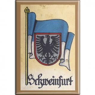 Küchenmagnet - Wappen Schweinfurt - Gr. ca. 8 x 5, 5 cm - 37548 - Magnet Kühlschrankmagnet