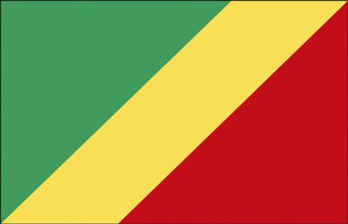 Stockländerfahne - Kongo - Gr. ca. 40x30cm - 77085 - Schwenkfahne