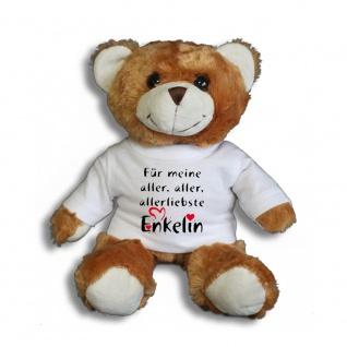 Teddybär mit Shirt - Für meine aller, aller, allerliebste Enkelin - Größe ca 26cm - 27165