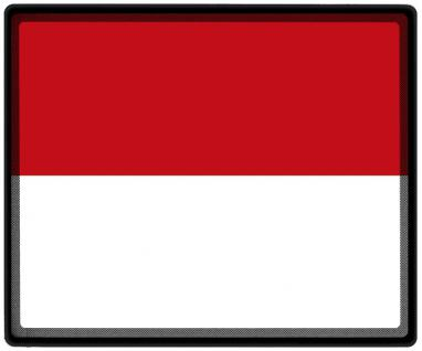 Mousepad Mauspad mit Motiv - Indonesien Fahne Fußball Fußballschuhe - 82065 - Gr. ca. 24 x 20 cm