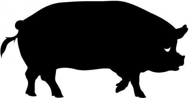 Aufkleber Applikation - Schwein - AP0439 - schwarz / 40cm