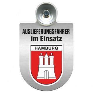 Einsatzschild Windschutzscheibe incl. Saugnapf - Auslieferungsfahrer im Einsatz - 309365 Region Hamburg
