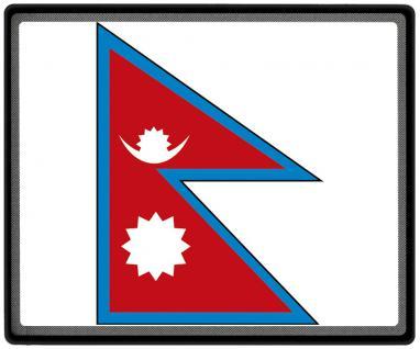 Mousepad Mauspad mit Motiv - Nepal Fahne Fußball Fußballschuhe - 82116 - Gr. ca. 24 x 20 cm