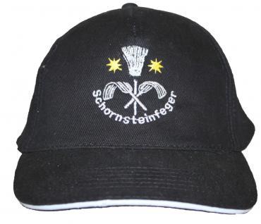 Base-Cap mit Zunft-Einstick - Handwerk - SCHORNSTEINFEGER - 68626 schwarz - Baseballcap Cap Baumwollcap Cappy Kappe