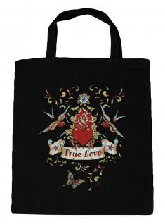 (U09377) Umweltfreundliche Baumwoll - Tasche , ca. 28 x 43 cm mit Aufdruck in 7 Farben schwarz
