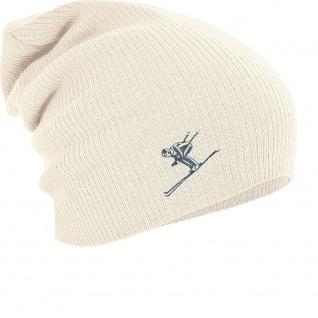 Longbeanie Slouch-Beanie Wintermütze Skifahrer 54876 - Vorschau 4