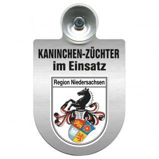 Einsatzschild Windschutzscheibe incl. Saugnapf - Kaninchenzüchter im Einsatz - 309361-7 - Region Niedersachsen